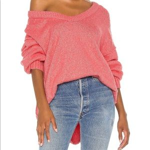 Free People The Brookside Tunic - Pink Lighting - Size Medium *fits XL perfectly